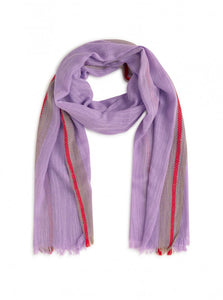 Nice things Contrast edges scarf in Lavender - CW CW