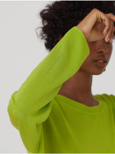 Load image into Gallery viewer, Nice things Open knit jumper in Lime green - CW CW