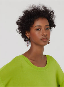 Nice things Open knit jumper in Lime green - CW CW