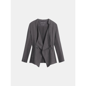 Sandwich Open linen jacket in Anthracite - CW CW