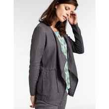 Load image into Gallery viewer, Sandwich Open linen jacket in Anthracite - CW CW