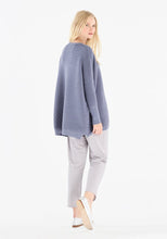 Load image into Gallery viewer, Paisie Ribbed oversized jumper in Indigo - CW CW