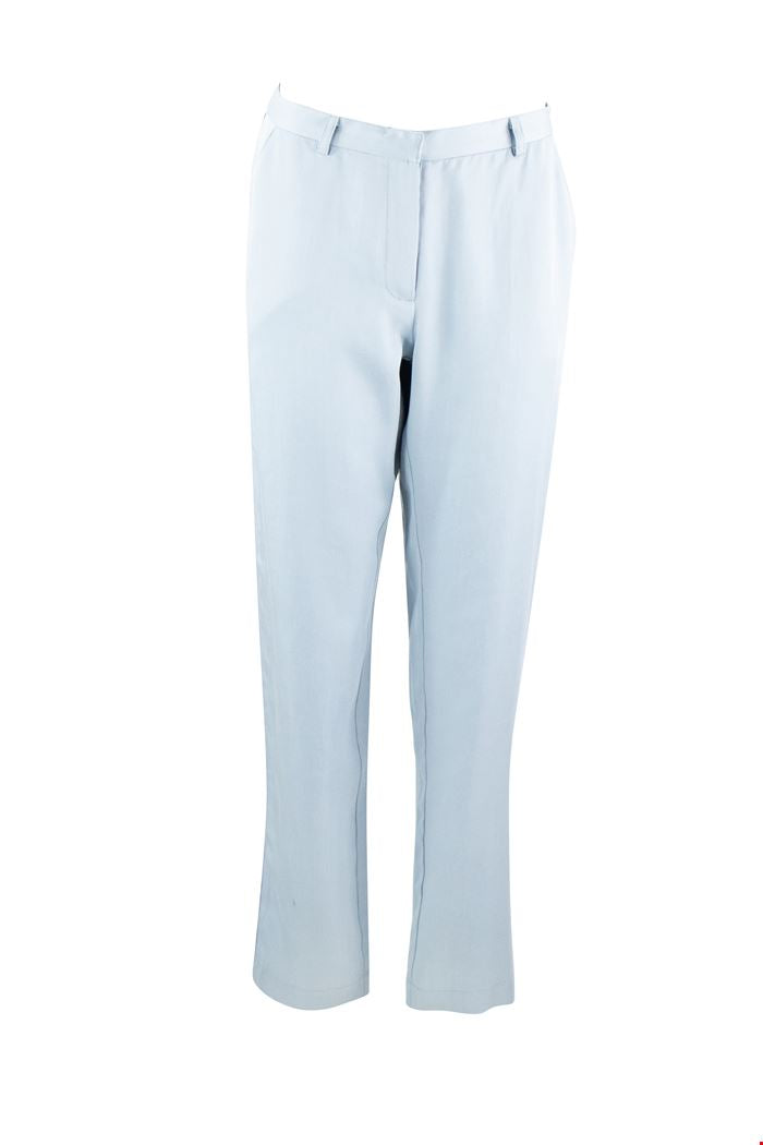 Zilch Tencel pant with contrast navy piping on side seam in Heaven blue - CW CW