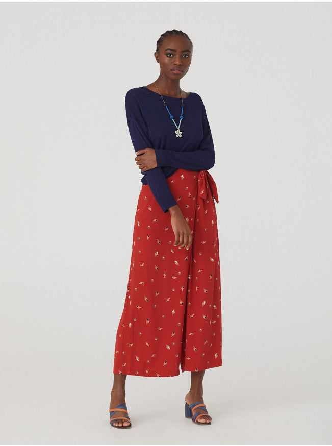 Nice things Seashell print culottes in Dark coral - CW CW