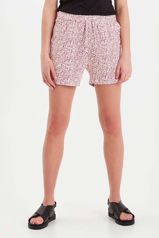 Ichi Casual printed jersey shorts in Baroque rose - CW CW