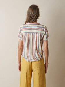 Indi & Cold Woven striped shirt in - CW CW