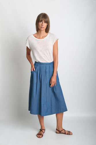 BIBICO Una midi skirt in Denim - CW CW
