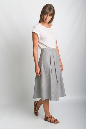BIBICO Una midi skirt in ticking stripe - CW CW