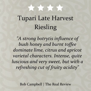 Tupari Late Harvest Riesling 2018 – 6 bottle case