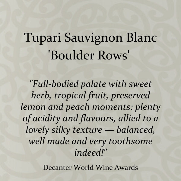 Tupari 'Boulder Rows' Sauvignon Blanc 2017 – 6 bottle case