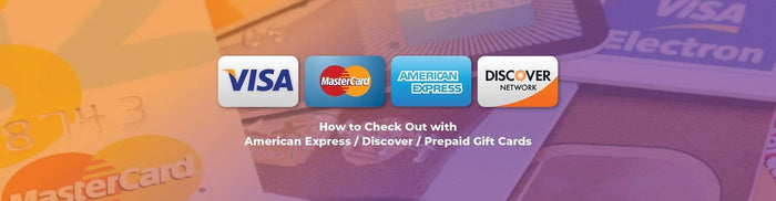 Why can't I checkout using American Express/Discover/prepaid gift card?