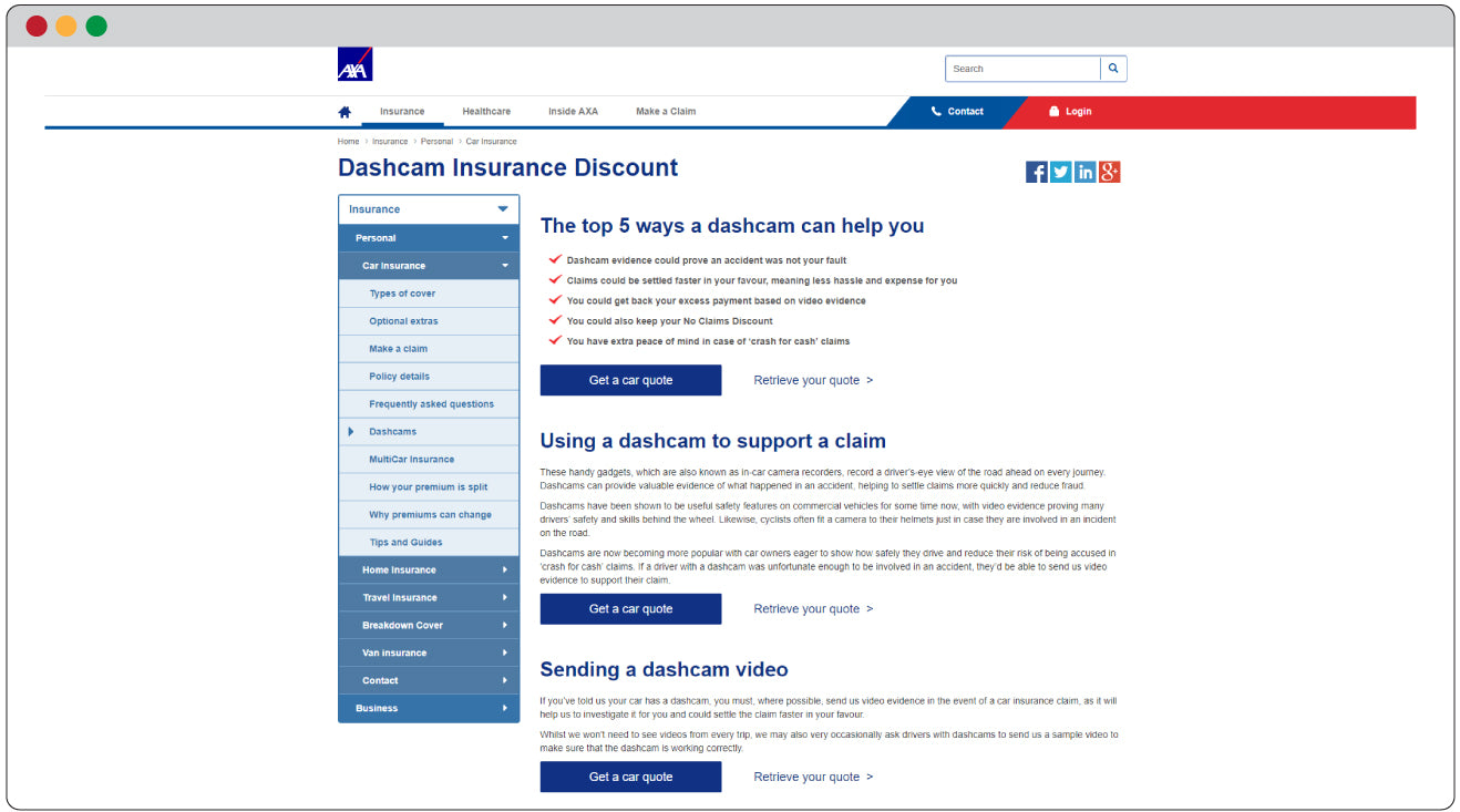 Insurance Discounts For Drivers With Dash Cams BlackboxMyCar - Show car insurance companies