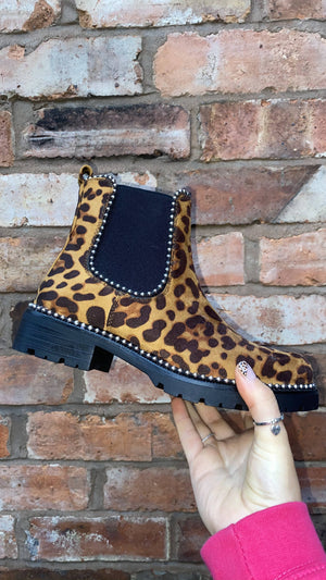 Animal Print Chelsea Boots