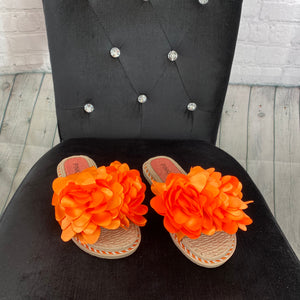 Flower Sliders - Orange