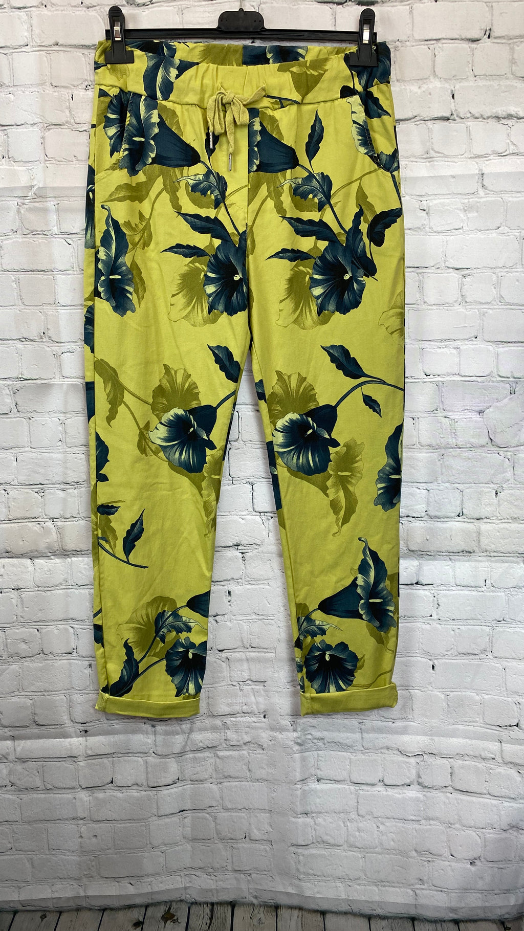 Floral Magic Trousers - Lime
