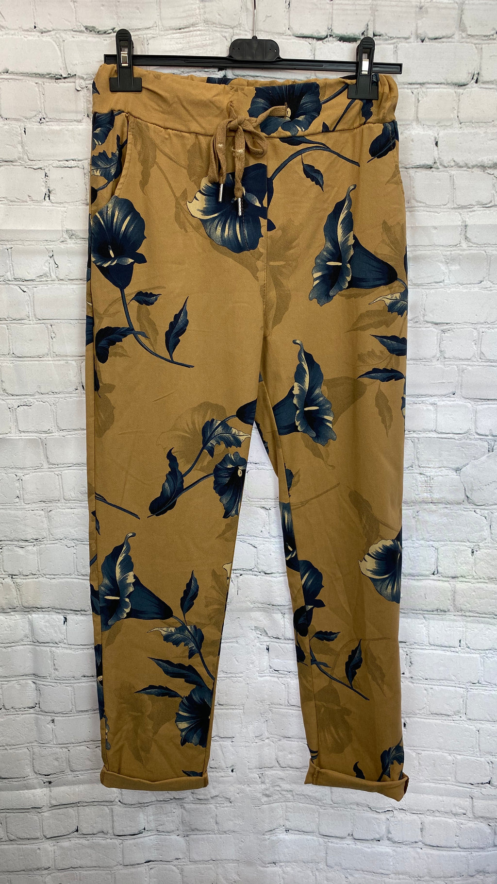 Floral Magic Trousers - Brown