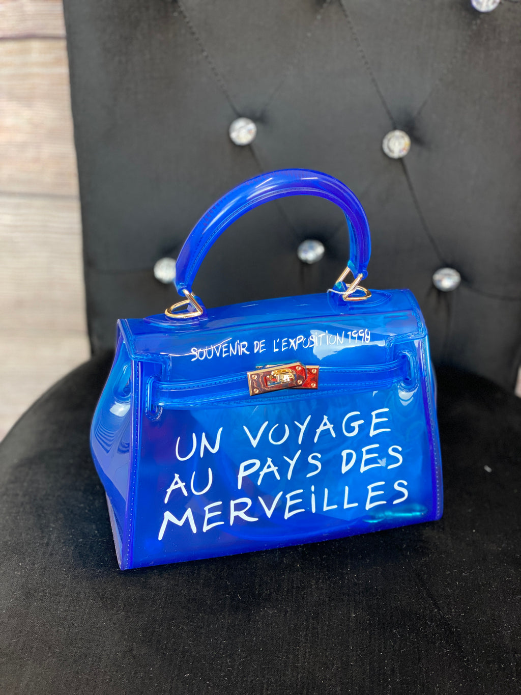 Mini 'Un Voyage' Design Bag - Royal Blue