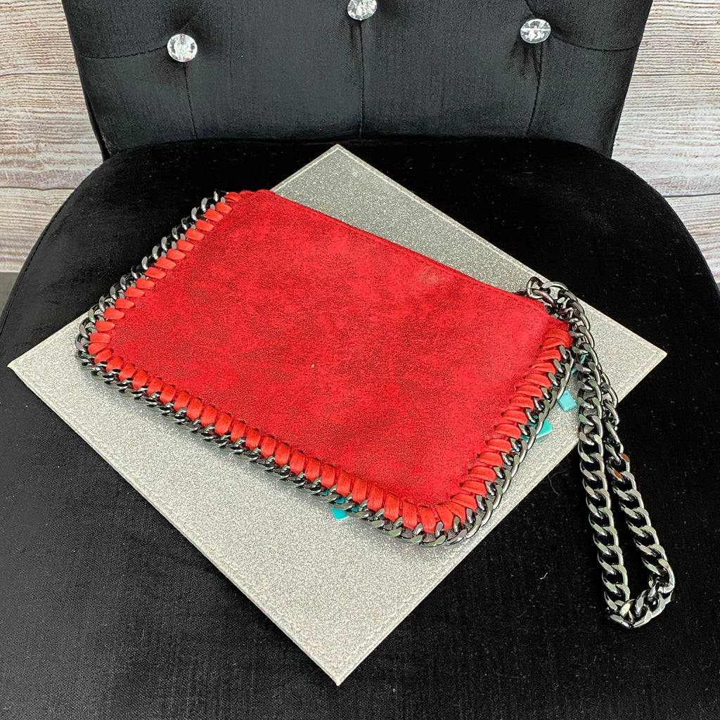 Inspired Hand Clutch - Red