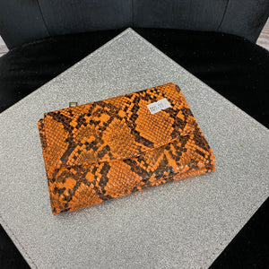 Small Snakeskin Purse - Orange