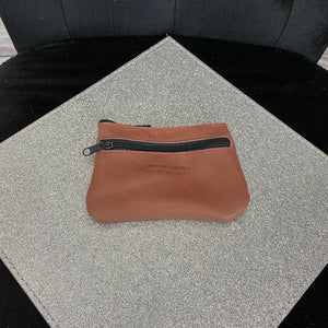 Leather Coin Purse - Smooth Leather - Salmon