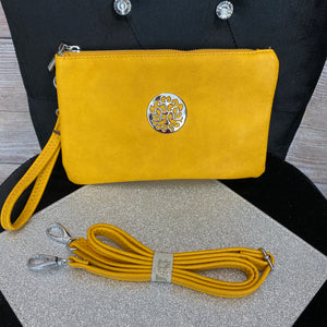 Medium Inspired Clutch or Crossbody Bag - Mustard