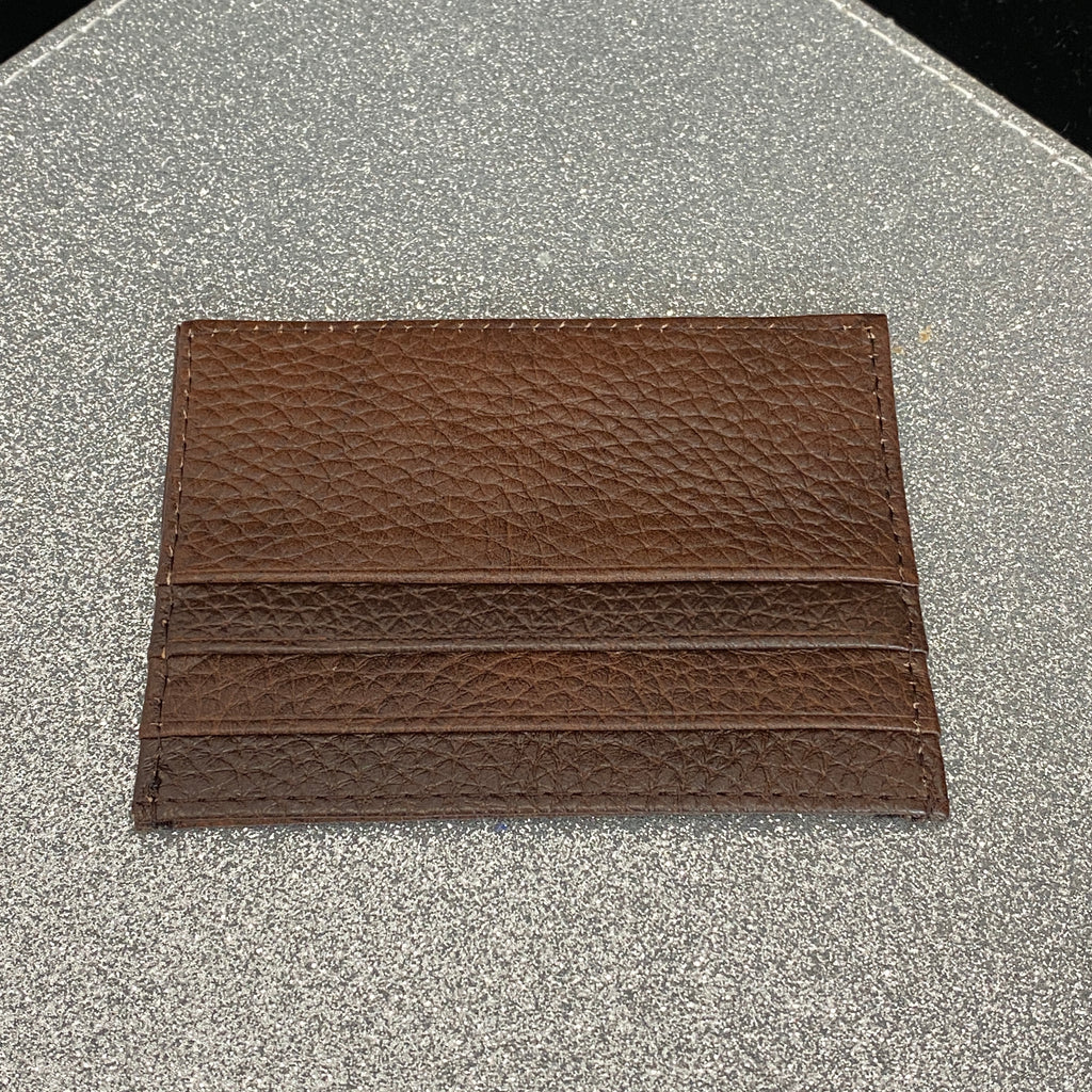 Basic Leather Card Holder - Brown
