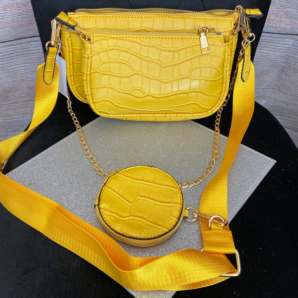 3-IN-1 Inspired Bag Set - Yellow