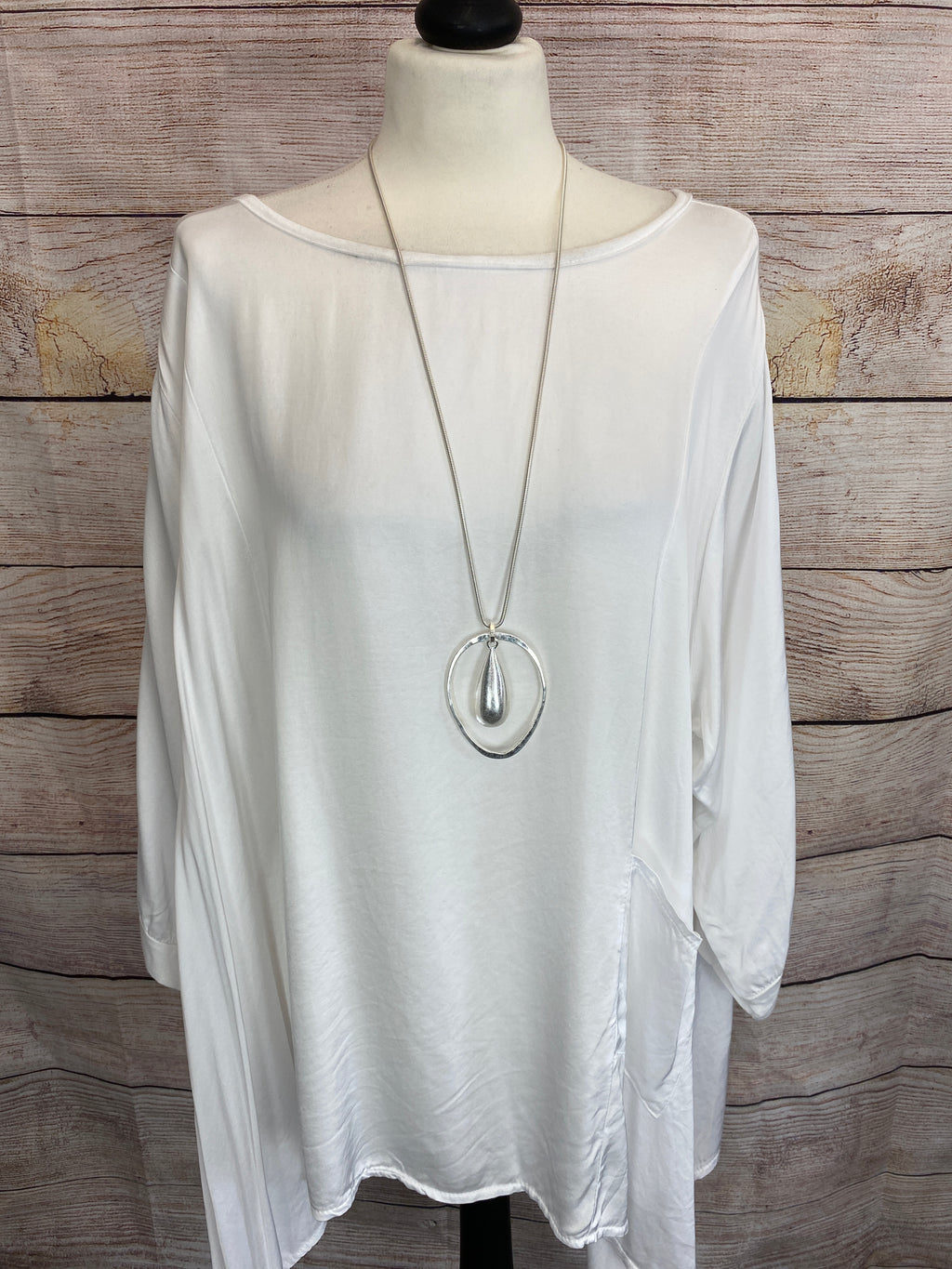 Basics Silver Droplet Necklace