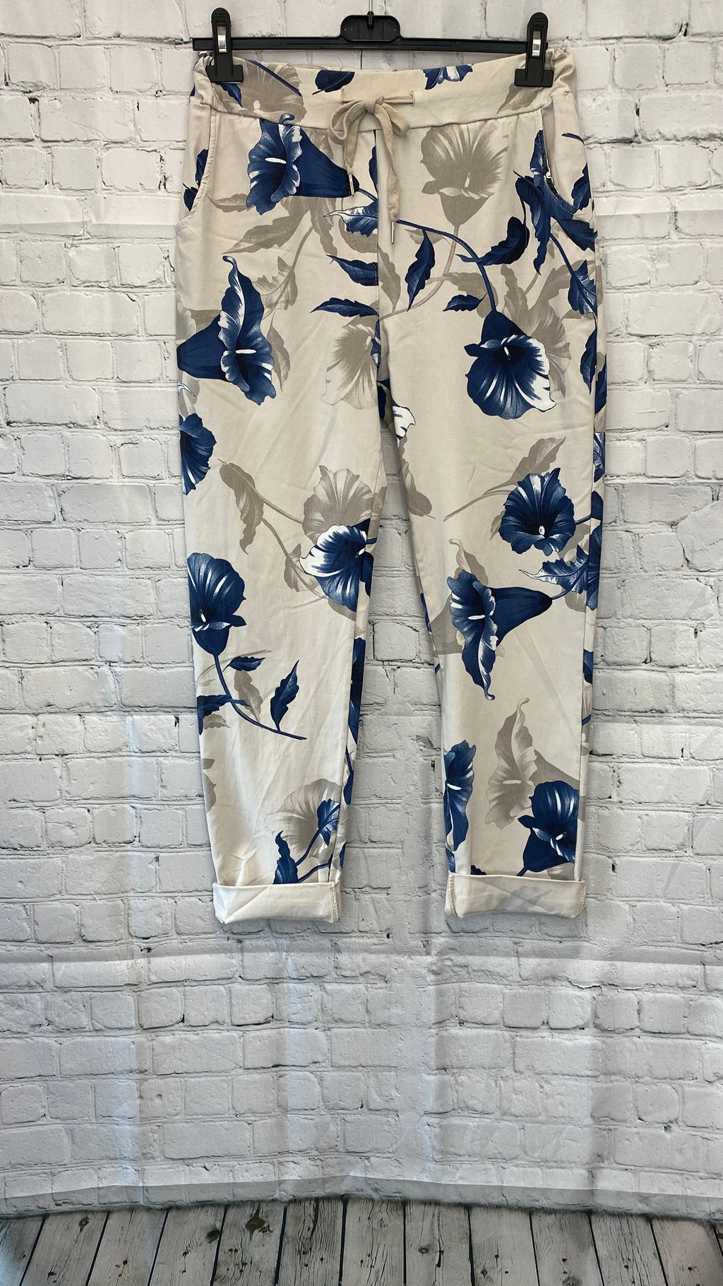 Floral Magic Trousers - Stone