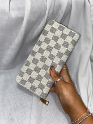 Inspired Check Purse - White
