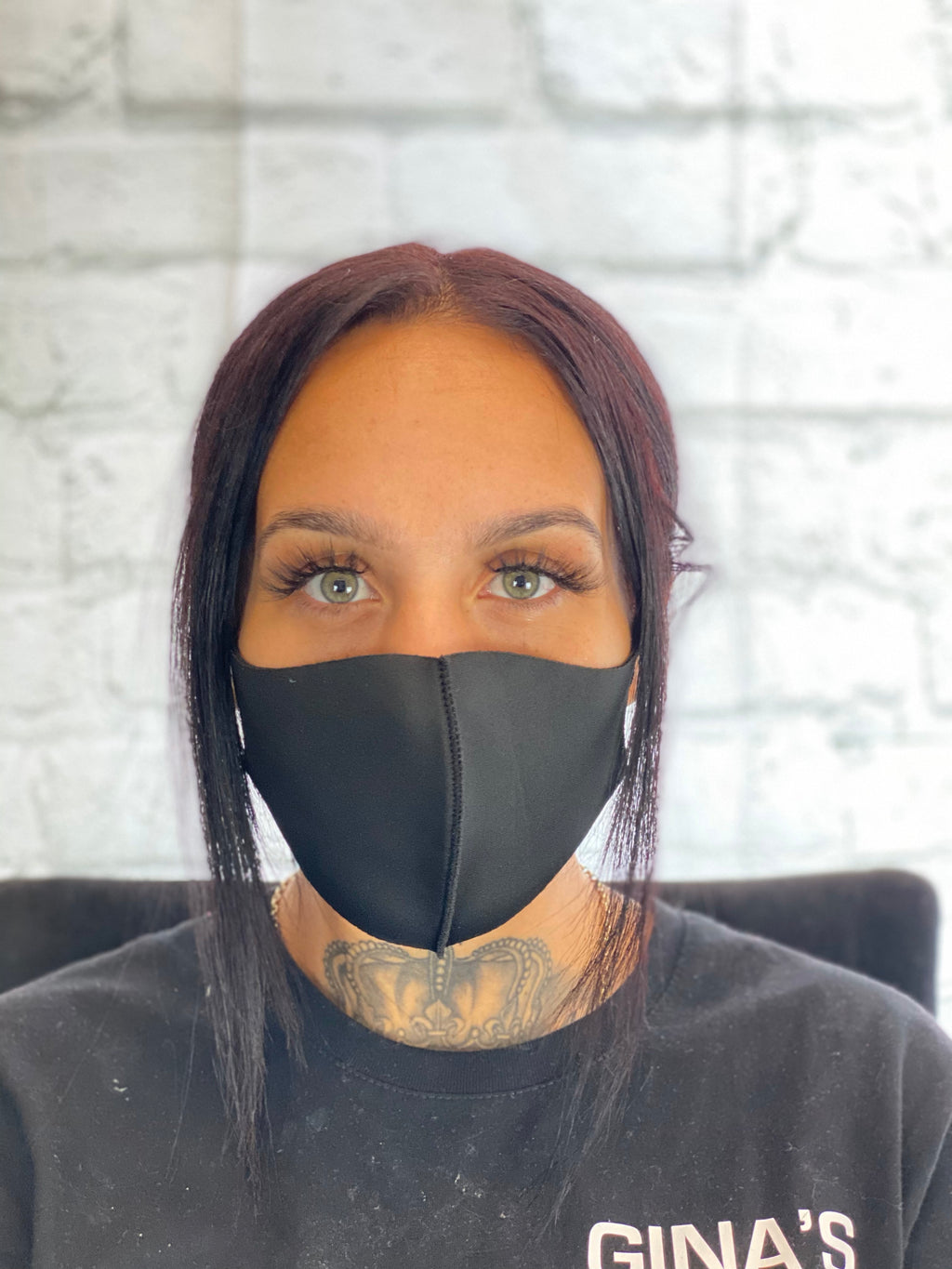 Fashion Face Mask - Plain Black