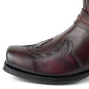 Botas Biker ou Motard Homem 2471 Indian Bordeaux e Preto