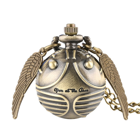Retro Snitch Ball Shaped Potter Quartz Pocket Watch