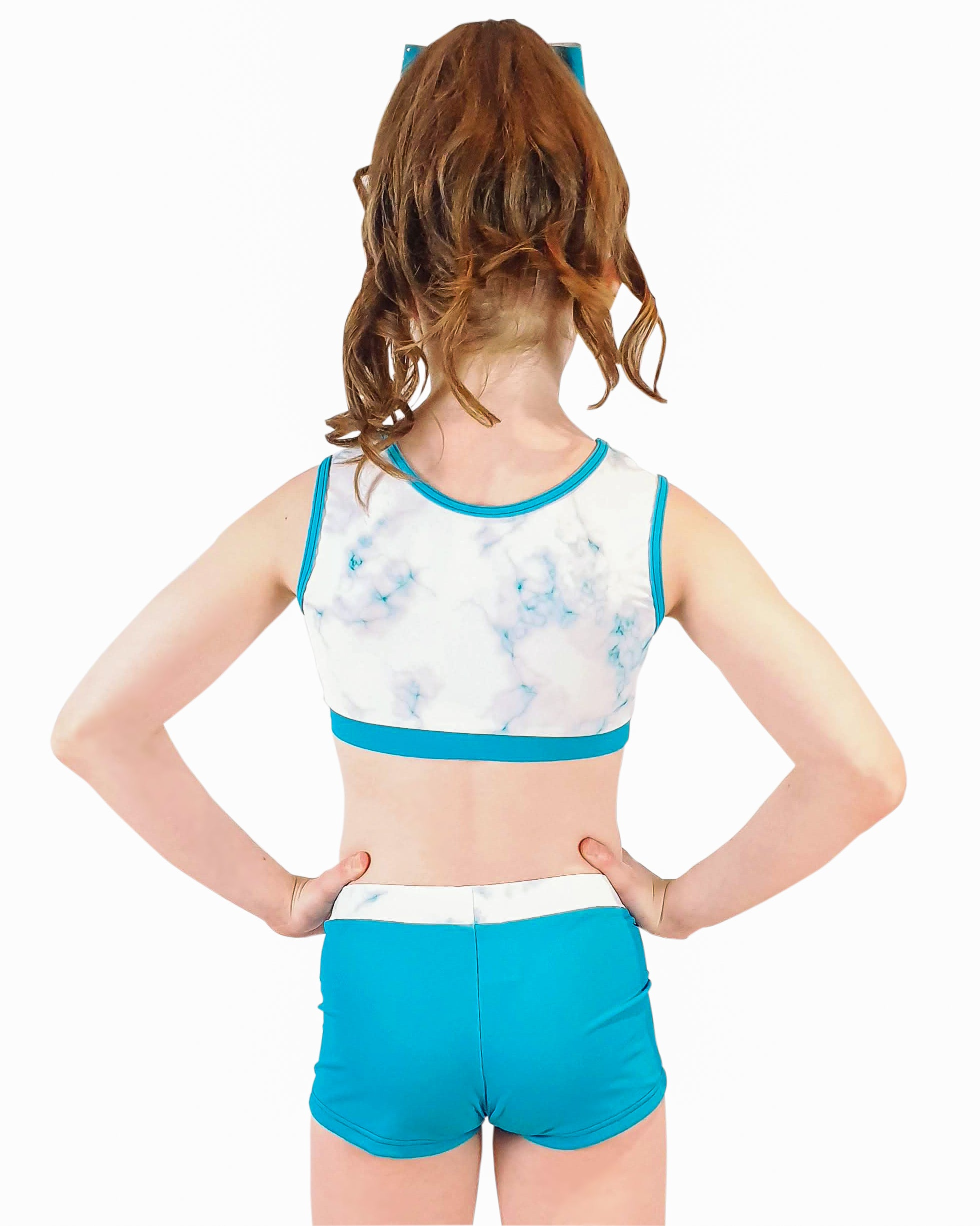 EUPHORIA TURQUOISE CROP TOP SET Girls Gymnastics | Equip My Gym A