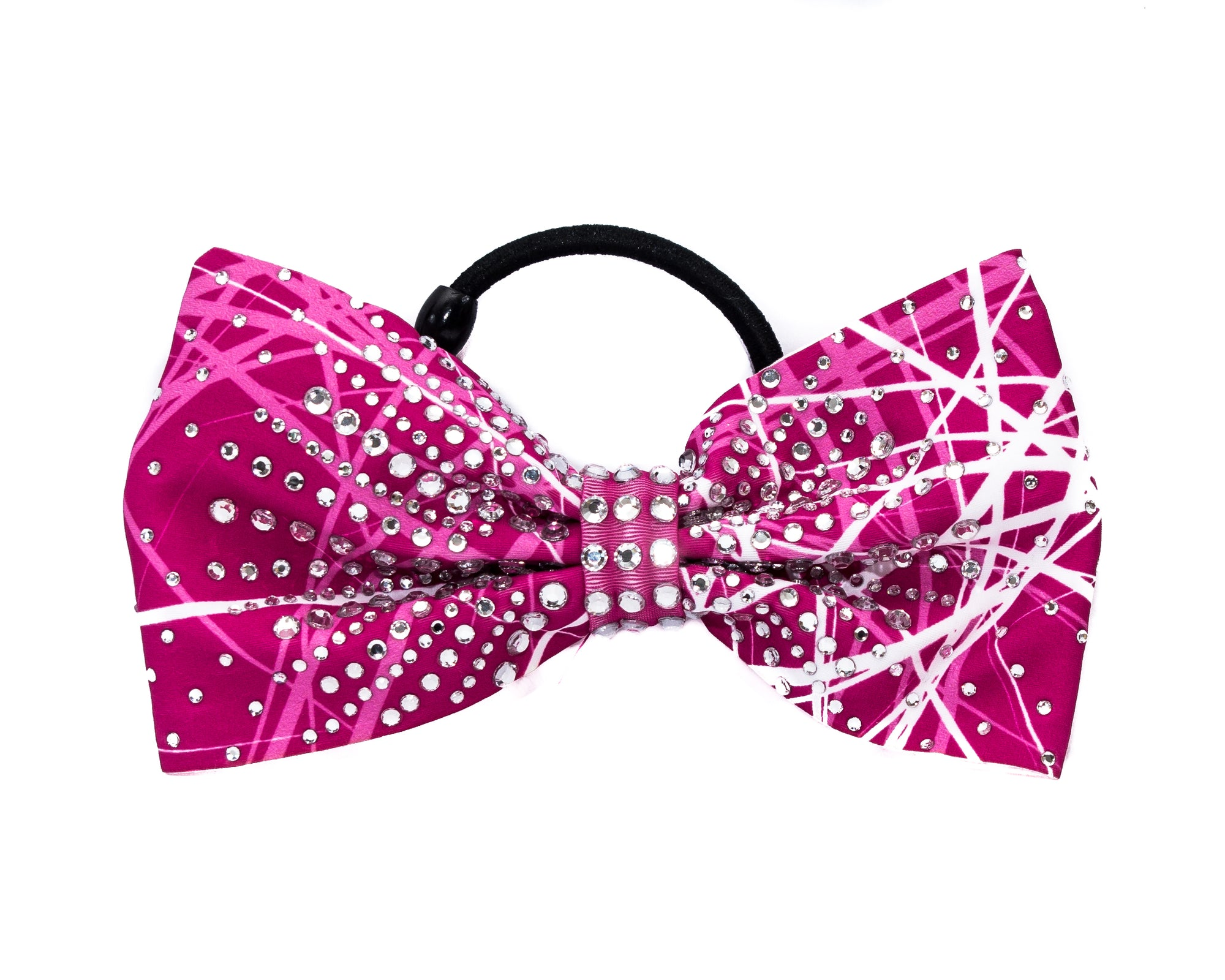 FRACTURED PINK Girls Gymnastics Hair Bow | Equip My Gym