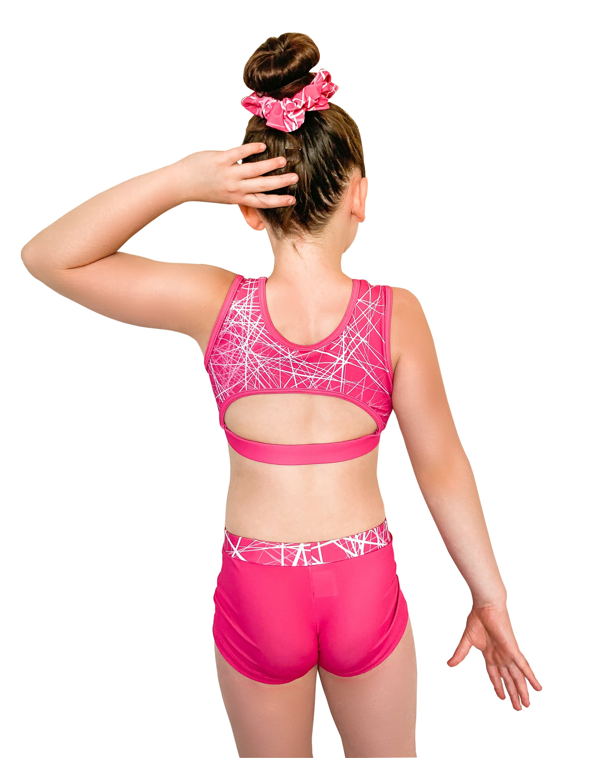 FRACTURED PINK CROP TOP SET Girls Gymnastics | Equip My Gym B