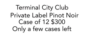 TCC Private Label Pinot Noir Case of 12 bottles