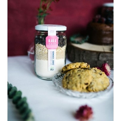 My homemade choc' cookies bio by Lili Bulk (7.99€/pot + consigne 1€)