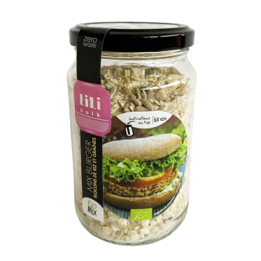 Mix Burger flocons de riz et graines by Lili Bulk (4,99€/pot + consigne 1€)