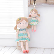 Personalized Gloveleya Spring Girl - Green Doll with Mini Doll