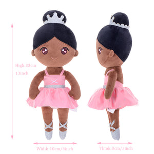 Personalized Gloveleya Ballet Girl Baby Doll Girl Gifts Plush Doll Brown Pink Soft Doll 13 Inches