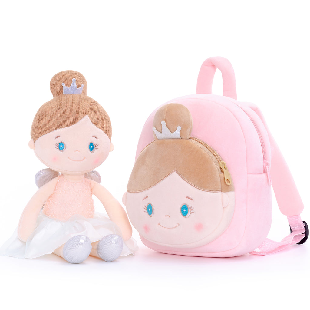 Personalized Gloveleya Angel Girl - Pink Doll with Backpack Bag