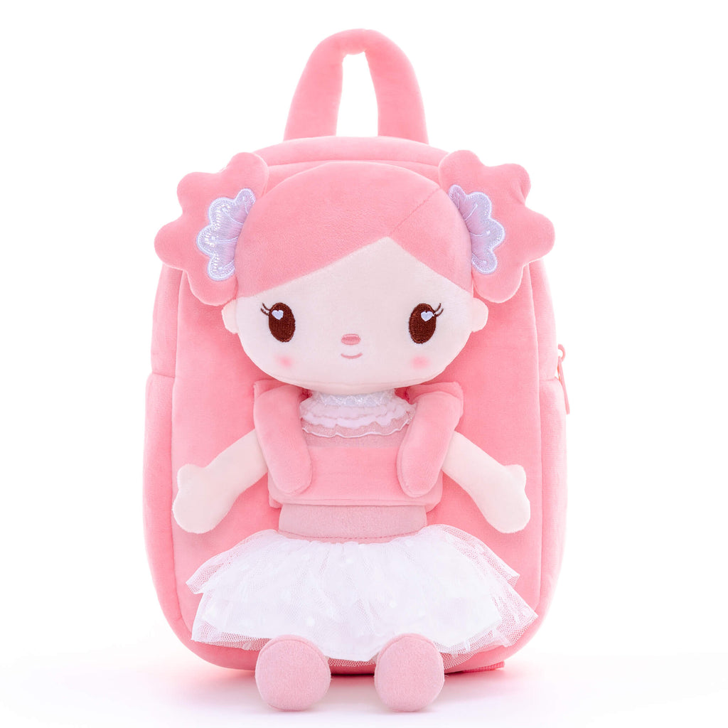 Personalised Gloveleya Candy Girl Backpack Bag with Pink Doll 25CM