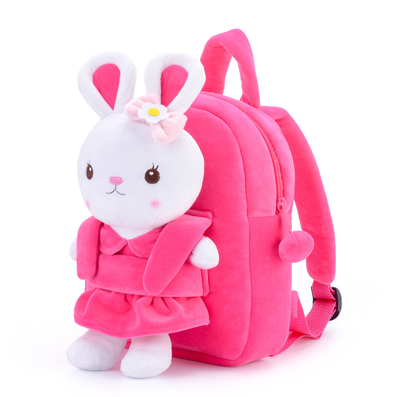 Gloveleya Pink Rabbit Doll Backpack Bag 25CM