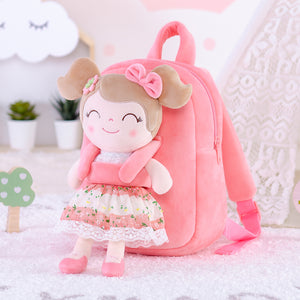 Personalized Gloveleya Spring Girl Backpack Bag with Pink Doll 25CM