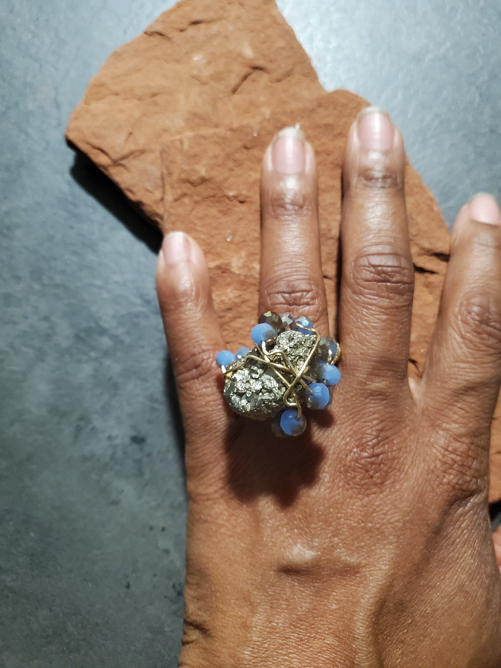 Pyrite  Galaxy Ring ~One of a kind Crystal jewelry