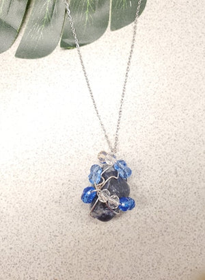 Sodalite Necklace pendant~One of a kind Crystal jewelry