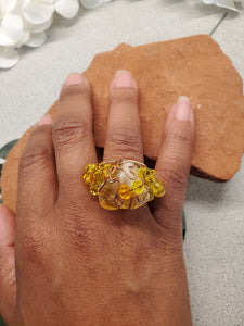 Citrine Galaxy Ring