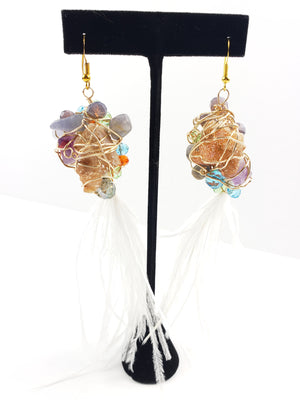 Nina feather earrings