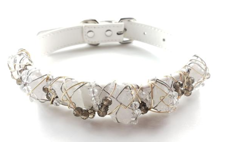 Clear Quartz Healing Dog Collar